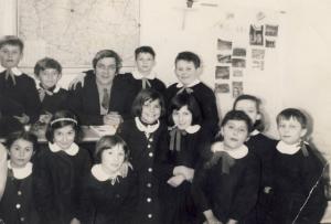 Il Maestro Dino Gregorio e i suoi alunni