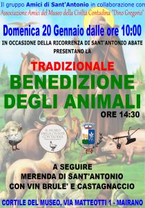 Benedizione animali S.Antonio 2019